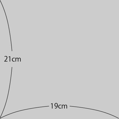 巻のりのサイズ 横19cm縦21cm